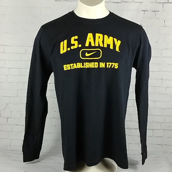cba3a92691a Nike U.S. Army Est 1775 Long Sleeve Black Shirt
